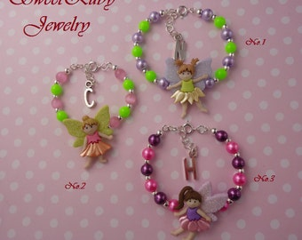 Initial Charm Fairy Bracelet Gift- for Girls/Kids/Little Girls/Little Kids - With an Elegant Gift Box
