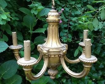 Golden chandelier 199