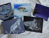 Snow Leopard Cards by Kyle