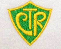 Machine Embroidery Design, CTR Shield, digital instant download file..