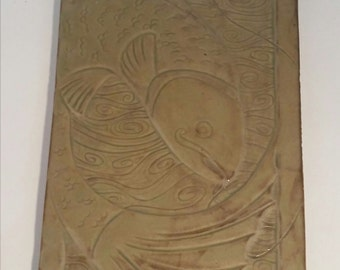Salmon of Knowledge Hand Carved Tile