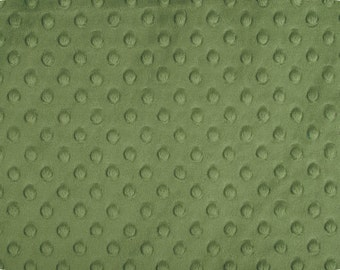 Olive Green Cuddle Minky Dot Fabric  (Shannon Fabrics)