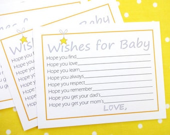 DIY Wishes for Baby Printable Cards for a Gender Neutral Baby Shower