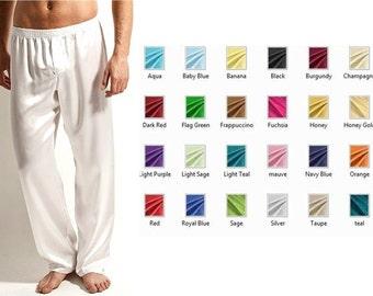 Mens Silk Pajamas / Nightwear Lounge Wear - Multiple Colors and Sizes