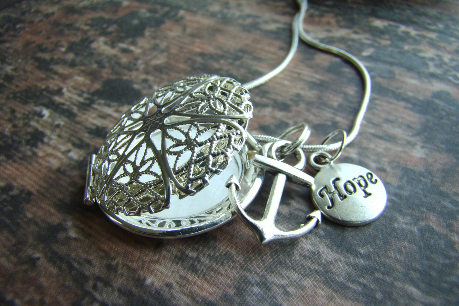 Anchored In Hope Essential Oil Diffuser Necklace Aroma