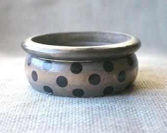 Bangle Bracelet Set- Polka Dot Jewelry - Polka Dot Bracelet - Whimsical Jewelry