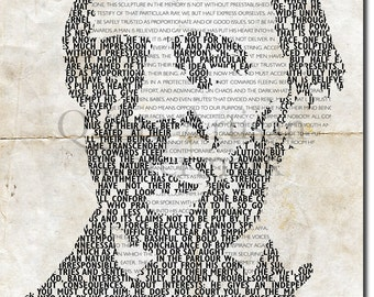 RALPH WALDO EMERSON Beautiful Typographic Poster