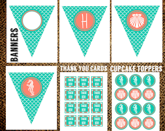 Under the Sea Party Bundle INSTANT DOWNLOAD