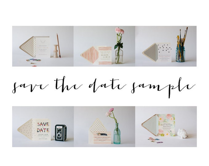 save the date SAMPLE - choose any design