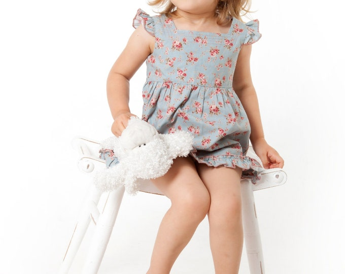 Flower Print Dress, Girls Dress , Girls Spring Dress, Toddler Dress, Girl Dress , Toddler dress with print, Cotton Girls Dress, Spring Dress