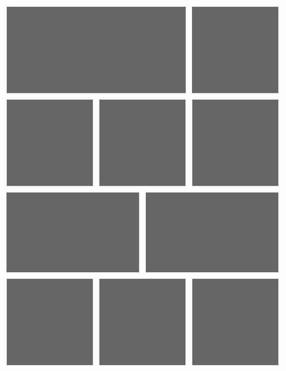 Instant Download- 8.5X11 Storyboard Photographers Template