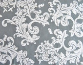 Gray Damask Weighted Blanket