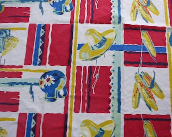 Vintage 50's Southwestern Tablecloth