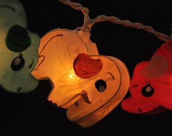 20 Handmade Elephant planet paper lantern string lights kid bedroom light display garland decorations