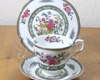 Vintage paragon Tree of Kashmir Trio Cup Saucer And Sideplate