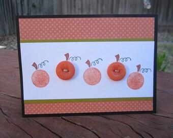 Five Little Pumpkins card