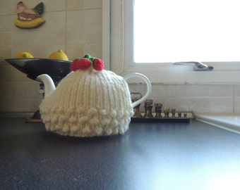 T Cosie Strawberries and Cream hand knitted