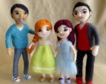Needle felted Doll for Doll house( Each sold individually)