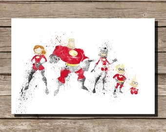 Disney poster Pixar art The Incredibles movie poster art print disney poster movie art fan art pixar movie poster