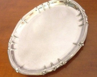 Tray Stainless Steel 18 / c SAF , Made in Italy, vintage tray, silver tray, shabby chick tray