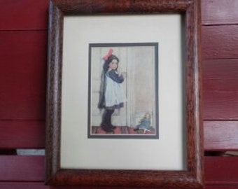 Adorable Double Matted and Framed Sweet Child's Print!