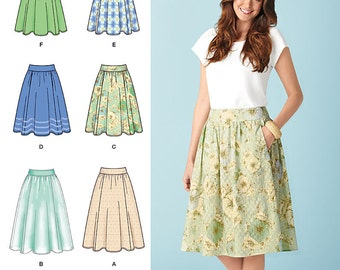 Simplicity Sewing Pattern 1369 Misses' Skirts in Three Lengths