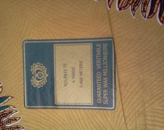 Gold Dashiki Print