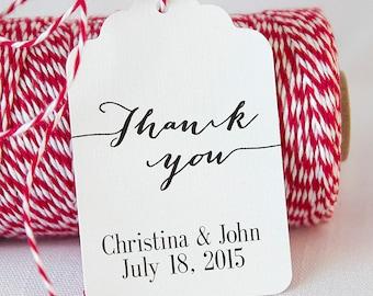 Thank you Wedding Tags, Thank You Wedding Favor Tags, Wedding Favor Tags, Tags for Wedding Favors (ST-009)