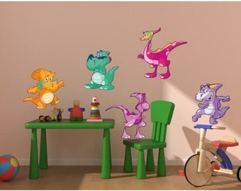 Baby Dino Set III nursery wall decal, deco, sticker, mural, vinyl wall art