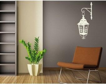Classic Lamp deco wall decal, sticker, mural, vinyl wall art