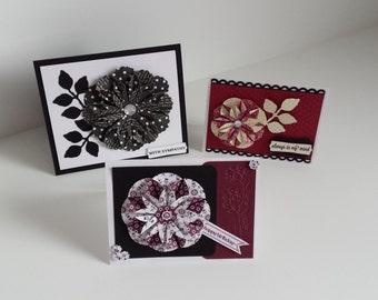 Dahlia Flower card