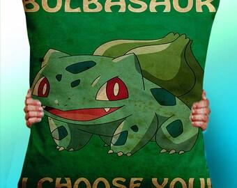 Bulbasaur I Choose You  - Cushion / Pillow Cover / Panel / Fabric
