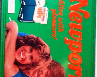 Vintage Newport Metal Advertising Sign 1980's
