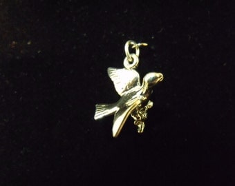 Sterling Silver Calling Bird 3D Charm/Pendant  - .925 2.8 grams