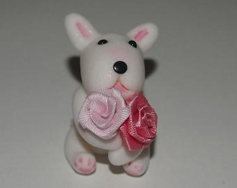 English Bull  terrier Figurine.