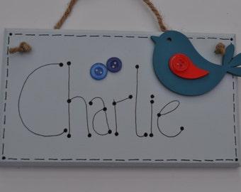 Children's bedroom name sign