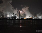 "Cityscape Photograph, ""STEEL CITY""  Hamilton night photography print"