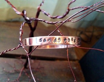 Polished copper bracelet