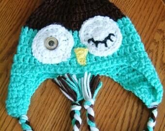 Winking owl hat