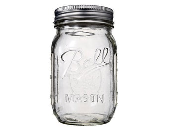 Classic Mason Jar - Size Regular Mouth 470 ml (16oz)