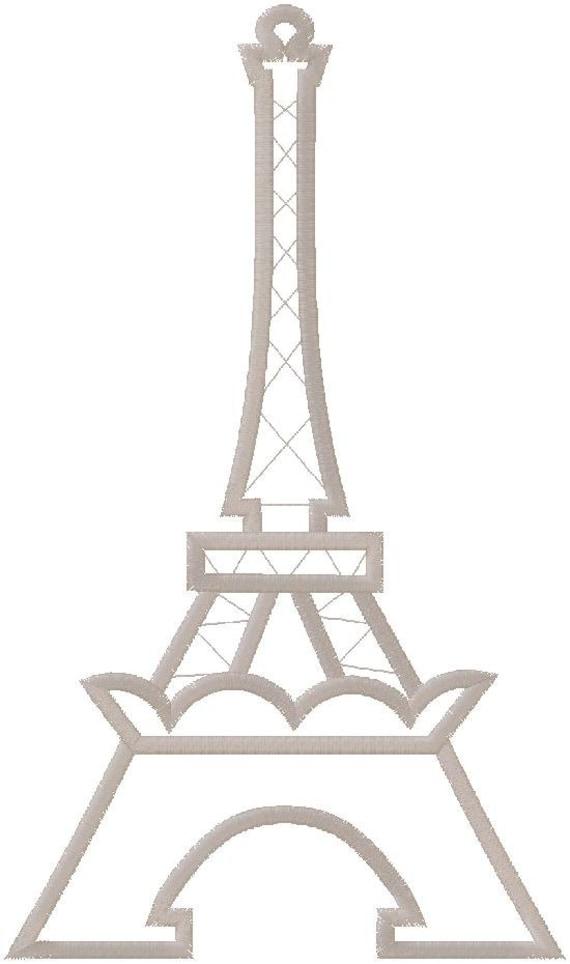 eiffel tower machine embroidery design