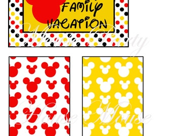 Disney Life Printable Journaling Cards, 3x4, 6x4 Project Life Inspired, Jpeg Files