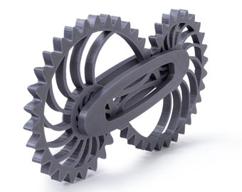 LeLuv Medium Size 3D Printed Nautilus Gear Engineer Gizmo Gadget Gift Rotating