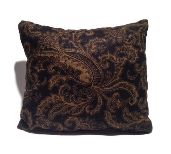 Black and Brown Paisley THROW PILLOW