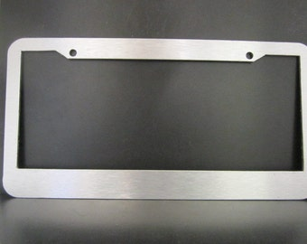 Silver mirror (look like chrome) license plate frame,