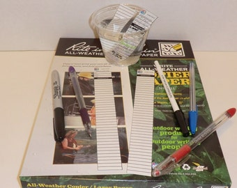 36 Rite In the Rain Geocaching Log Strips For Micro Cache Containers - Waterproof Geocache Log Strips
