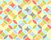 Michael Miller Fabric-Multi Tile Pile-Petal Pinwheels Collection-Cotton-Material-One Yard