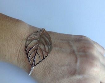 Leaf Bracelet in Silver
