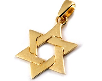 Classic Star of David 14k Gold Pendant