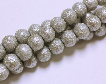 8MM  Round Matte Pearlized Beads